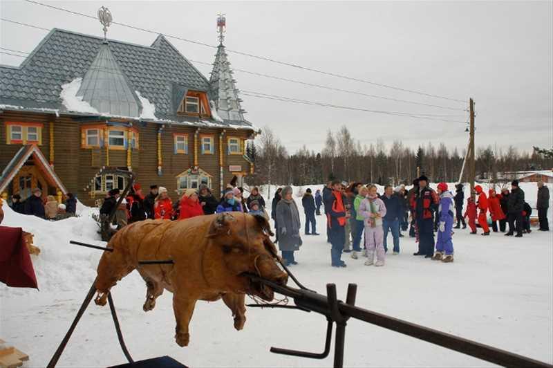 Масленица в деревне Мандроги - 1