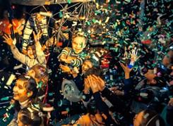 Невероятная новогодняя байк-елка в «Волчьем логове»